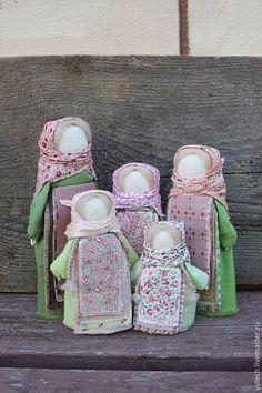 """Купить Народные русские куколки """"Сестрицы"""" - разноцветный, народная кукла, русская народная кукла, розовый"""