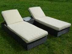 Marbella Sun Lounger Set Dark Brown (Sunloungers) Price Β£399,99 http://www.uk-rattanfurniture.com/product/rattan-wicker-cushion-set-for-lounge-groups-in-dark-grey-eight-cushions-with-padding-included-50-cotton-50-polyester-with-zip/