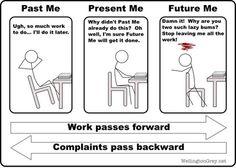 Past me vs Present me vs Future me