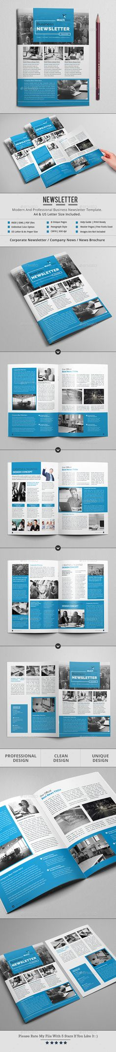 #Newsletter - Newsletters #Print #Templates Download here: https://graphicriver.net/item/newsletter/18106990?ref=alena994