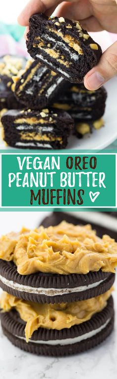 These peanut butter Oreo muffins are seriously amazing! Incredibly easy to make, heavenly chocolaty, and so decadent! And they're a real eye-catcher!