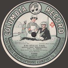 1908 Das Stille Thal German Military Columbia Record Label