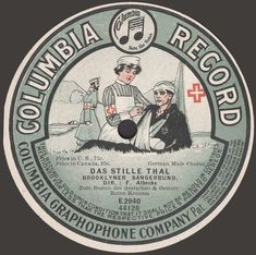 1908 German Military Columbia Record Label