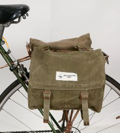 British Military Bicycle Panniers – Set of 2 | Accessories Bike | Reclamation Department |