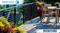Feeney CableRail offers low-maintenance, durable, and customizable designs without sacrificing a great view. Feeney's unique stainless steel fittings with special Quick-Connect® technology attach to the cable in the field without tools. One-way jaws automatically grab and lock-on after the cable is inserted, making assembly and installation fast and easy. #Railing #DeckRailing #RailingSystems #CableRail #CableRailing #Feeney #FeeneyCableRail Cable Railing, Deck Railings, Stainless Steel Fittings, Stainless Steel Cable, Outdoor Rooms, Outdoor Decor, Modern Deck, Garden Stairs, Front Yard Fence