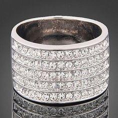 Swarovski Crystal 5 Band Ring!