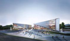 University Architecture, Cultural Architecture, Architecture Student, Futuristic Architecture, Facade Architecture, Concept Architecture, Atrium Design, Facade Design, Architecture Presentation Board