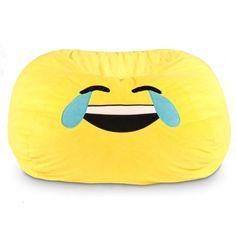 GoMoji Emoji Tears of Joy Bean Bag Chair - http://delanico.com/bean-bag-chairs/gomoji-emoji-tears-of-joy-bean-bag-chair-682994023/