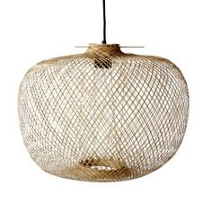 Beautiful lamp in the trendy nature look. Wicker wicker basket lamps are a top trend theme for natural furnishings. socket and ceiling suspension. Lighting Sale, Pendant Lighting, Pendant Lamps, Lighting Design, Bamboo Pendant Light, Lustre Metal, Deco Luminaire, Bamboo Weaving, Mini Candles
