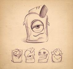 Characters by jagdeep Singh, via Behance #cute #drawings