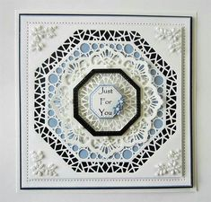 PartiCraft (Participate In Craft): Lavish Accented Noble Octagon Hexagon Cards, Spellbinders Cards, Birthday Cards For Women, Shaped Cards, Embossed Cards, Wedding Anniversary Cards, Card Making Techniques, Folded Cards, Homemade Cards