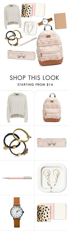 """""""Pink Tones"""" by racheld725 ❤ liked on Polyvore featuring Rip Curl, Marc Jacobs, Ted Baker, Faber-Castell, Kate Spade, backpack and inmybackpack"""