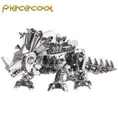 Piececool+3D+Metal+Puzzle+Dinosaur+Rock+Building+Kits+P062S+DIY+3D+Laser+Cut+Models+Toys