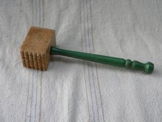 Items Similar To Wooden Meat Tenderizer Hammer, Wooden Green Handle, Kitchen  Collectibles On Etsy