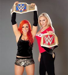 best friends are champs❤️💙 Charlotte Wwe, Charlotte Flair, Becky Wwe, Wwe Girls, Wwe Ladies, Wwe Sasha Banks, Wwe Elite, Raw Women's Champion, Wrestling Divas