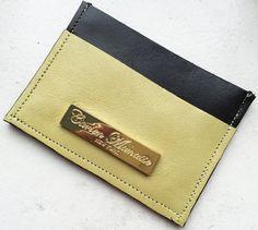 Lime Green/ Black Nappa Leather Slim by CarlenManasseNY on Etsy