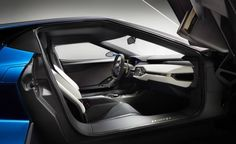2017 Ford GT interior, leather seats