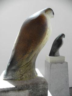 Monk Bird - Jane Rosen (1950, American), 2010 / hand blown pigmented glass and limestone