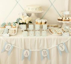 Blue Baby Blocks {Baby Shower}