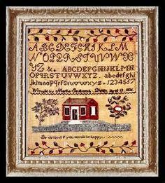 Miniature Dollhouse 1800's Sampler Art Picture 2048, $12.95