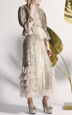 Rodarte  Sequin Embellished Ruffled Skirt  €3.126