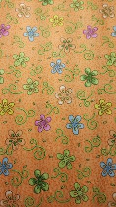 """Butterfly Floral Orange Cotton Fabric, End of Bolt 1 Yard 15"""" by LaCreekBlue on Etsy"""