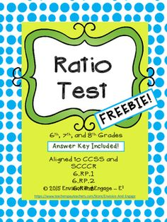 This 22-problem, multiple choice test includes ratio, rate, and proportion problems.  It is aligned to the Common Core Standards as well as the South Carolina College- and Career-Ready Standards for 6th grade.  It may be used as enrichment for 5th grade and remediation for 7th and 8th grades.If you like this free resource, please look at my other products!Evaluate Expressions Task CardsRatio TablesHow to get TPT credit to use on future purchases: Please go to your My Purchases page (you may…