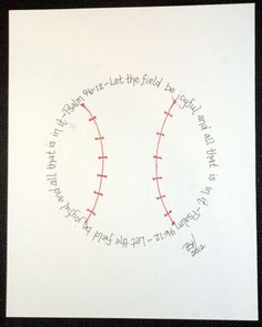 Baseball Psalm 96:12 for boys who love baseball.. cute for a little boys room..