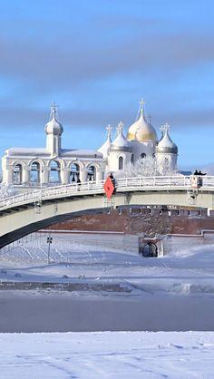 Russia, Veliky Novgorod In Winter