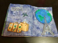 Pagina 26 para el st de julio de aprendiendo scrapbooking. Tema maletas