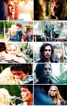 The 100 season 2 Bellarke vs. Flarke