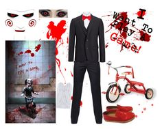 """""""Jigsaw: I Want To Play A Game!"""" by vampirekitty34 ❤ liked on Polyvore featuring Paul Smith, Brunello Cucinelli, Joseph, Neiman Marcus, Kenzo, Manokhi, men's fashion and menswear"""
