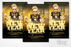 New Year Euphoria Flyer This flyer is perfect for promoting your New Year's Eve event. It's easy to customize and fully editable. The photo with the girl DJ in Flyer Design Templates, Flyer Template, New Years Eve Events, Girl Dj, Communication Logo, Party Flyer, Letter Logo, Print Design, Photoshop