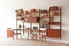 Thinking of all the display opportunities this cool unit offers: 5 Bay Cado Wall Unit Danish Mid Century Modular System on Etsy, $4,850.00