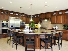 Love the big island! Kitchen Islands: Beautiful, Functional Design Options | Kitchen Designs - Choose Kitchen Layouts & Remodeling Materials | HGTV #kitchenarquitecture