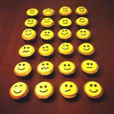Smiley cupcakes