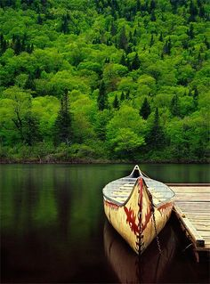 on the quiet water, canoe.