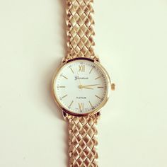 Metallic Gold Braided Watch – shopebbo