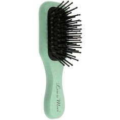 LESS IS MORE Mini hair brush ($9.01) ❤ liked on Polyvore featuring beauty products, hair, fillers, accessories, beauty, hair accessories and green