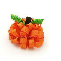 Hey, I found this really awesome Etsy listing at https://www.etsy.com/listing/165817656/one-pumpkin-loopy-puff-bow-for-girls-3