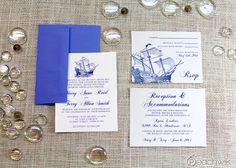 Can customize colors etc. // Sailwik Nautical Wedding Invitation & RSVP Postcard Suite By Peachwik - Peachwik Petites - Affordable Invites - Coastal, Ocean Weddings Nautical Wedding Stationery, Destination Wedding Invitations, Save The Date Invitations, Wedding Stationary, Wedding Vendors, Wedding Events, Wedding Fun, Wedding Stuff, Dream Wedding