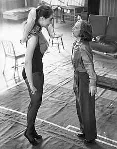 Julie Newmar and Tallulah Bankhead