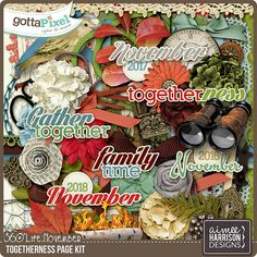 360°Life November: Togetherness Page Kit :: Gotta Pixel Digital Scrapbook Store by Aimee Harrison  $7.99