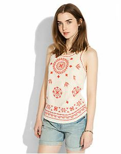 PACIFICA EMBROIDERED TANK - LuckyBrand