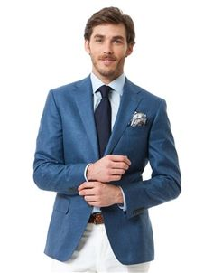 Ermenegildo Zegna Blue Windowpane Sportcoat 2 button jacket Notch