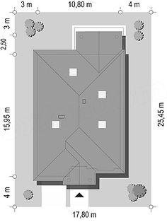 Projekt Dom na parkowej 7 B 151,65 m2 - koszt budowy 213 tys. zł - EXTRADOM Filing Cabinet, Floor Plans, Storage, House, Furniture, Home Decor, Architecture, Homes, Purse Storage