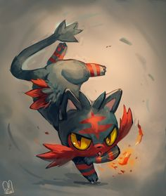 Pokemon : Litten by Sa-Dui.deviantart.com on @DeviantArt