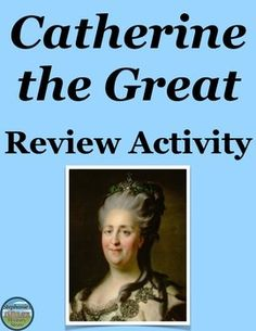 Students review Catherine the Great's life and time by completing a timeline activity and answering 4 questions. There are 17 items for students to place on the timeline. Students must classify each item according to a system detailed in the instructions, they have one task to complete for 4 items of their choice, and another task to complete for 2 other items of their choice. All instructions are provided in the handout.