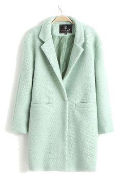 mint pastel green double breasted boyfriend pea coat wool