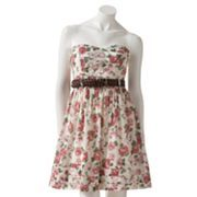 City Triangles Floral Strapless Dress - Juniors